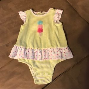 Baby Little Me Girl's Ice Cream Outfit. 6 Months